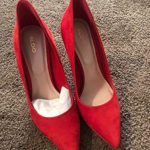 Red aldo heels/pumps